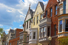 Luxury townhouses of Washington DC, USA. Royalty Free Stock Image