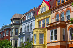 Luxury townhouses of Washington DC, USA. Royalty Free Stock Photo