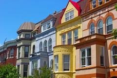 Luxury townhouses of Washington DC, USA. Royalty Free Stock Photo