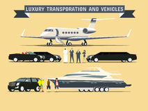 Luxury Transportation and Vehicles Stock Images