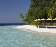 Luxury tropical beach resort in the Maldives Stock Photography
