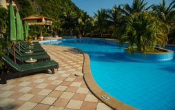 Luxury tropical hotel resort Royalty Free Stock Photography