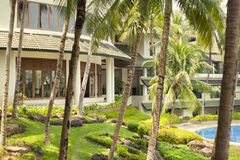 Luxury tropical hotel resort Royalty Free Stock Image