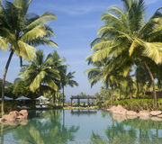 Luxury tropical resort Royalty Free Stock Images
