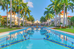 Luxury tropical resort royalty free stock photo