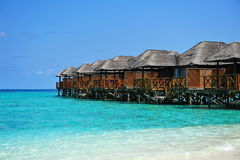 Luxury tropical resort in Maldives Stock Photo