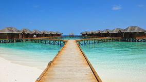 Luxury tropical resort in Maldives Royalty Free Stock Photos