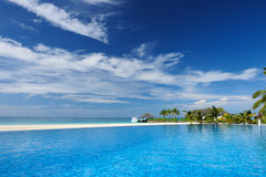 Luxury tropical swimming pool. Luxury swimming pool in the tropical hotel Royalty Free Stock Images