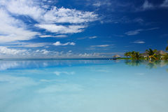 Luxury tropical swimming pool. Luxury swimming pool in the tropical hotel Stock Images