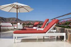 Luxury tropical terrace Stock Photo
