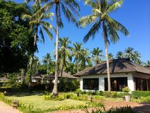 Luxury tropical villa resort with private pool royalty free stock image