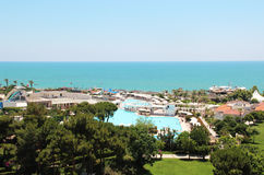 Luxury Turkish hotel. On the Mediterranean sea Stock Images