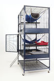 Luxury two floor cage equipped for ferrets Royalty Free Stock Images