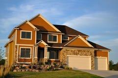 Luxury Two Story Suburban Executive Home Royalty Free Stock Photo