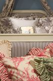 Luxury upscale bedding and linens Stock Images