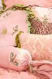 Luxury upscale bedding and linens Stock Photo