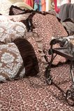 Luxury upscale bedding and linens Royalty Free Stock Image