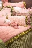 Luxury upscale bedding and linens Stock Photography