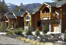 Luxury Vacation Home. In mountain resort town Stock Photo