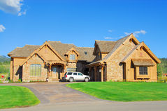Luxury Vacation Home. Luxury home in the summer Stock Photo