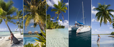 Luxury vacation - South Pacific Islands royalty free stock image