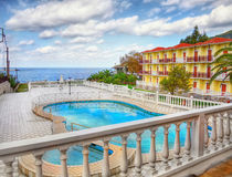 Luxury Vacation Villa and Homes. With swimming pool. Greek Skopelos island stock images