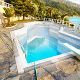 Luxury Vacation Villa, Swimming Pool Stock Images