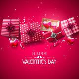 Luxury Valentine`s Day greeting card Royalty Free Stock Photo
