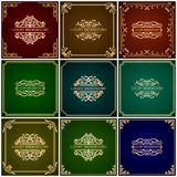 Luxury ornamental backgrounds. Luxury vector backgrounds pack with vintage square frames Royalty Free Stock Image