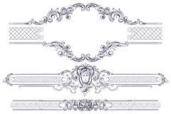 Luxury vector frame and border in rococo style Stock Photography