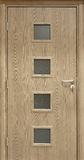 Luxury veneer door. Royalty Free Stock Image
