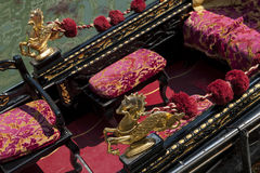 Luxury Venetian Gondola Venice Italy Detail Stock Images