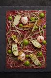 Gourmet Beef tartare royalty free stock photography