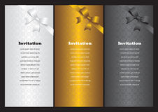 Luxury vertical invitation cards Royalty Free Stock Photo