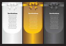 Luxury vertical invitation cards Royalty Free Stock Photos