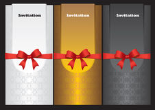 Luxury vertical invitation cards Stock Images