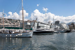 Luxury vessels in the port of Genoa, Italy Stock Image
