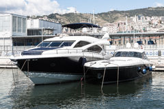 Luxury vessels in the port of Genoa, Italy Royalty Free Stock Photography