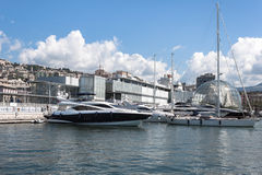 Luxury vessels in the port of Genoa, Italy Stock Photography