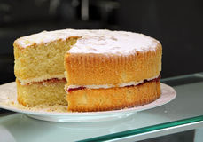 Luxury victoria sponge cake Royalty Free Stock Photos