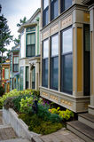 Victorian style homes at Roche Harbor on San Juan Island. Luxury Victorian style homes on McMillan Street in Roche Harbor on San Juan Island Royalty Free Stock Photography