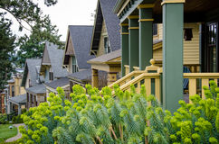 Victorian style homes at Roche Harbor on San Juan Island Royalty Free Stock Images