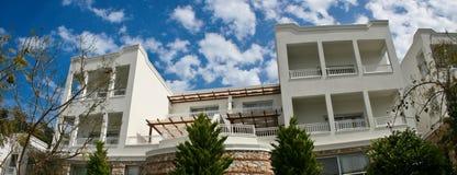 Luxury villa. Exterior of large, luxury villa stock photography