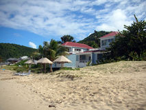 Luxury villa on the beach of Saint Barth Royalty Free Stock Photo