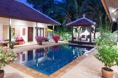 Luxury villa. Beautiful luxury villa with swimming pool in Phuket, Thailand royalty free stock photography
