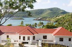 Luxury villa bequia st. vincent & the grenadines. Luxury villa house residence over industry bay bequia island st. vincent and the grenadines caribbean Stock Image