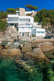 Luxury villa on the coastline. Royalty Free Stock Photo