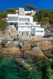 Luxury villa on the coastline. Italy Royalty Free Stock Photo
