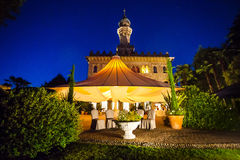 Luxury Villa Crespi at Orta san Giulio, Lake Orta, Piedmont Ital Royalty Free Stock Photo