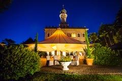 Luxury Villa Crespi at Orta san Giulio, Lake Orta, Piedmont Ital. Exclusive Hotel Villa Crespi at Orta san Giulio, Lake Orta, Piedmont Italy Royalty Free Stock Photo